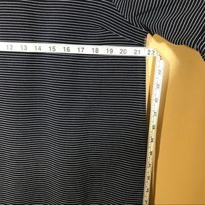 Doe & Rae Dresses - Doe & Rae navy striped ruffle sleeve dress size M